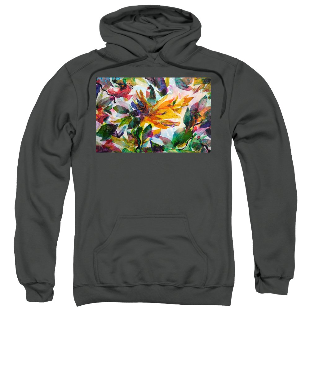 Abstract Sweatshirt featuring the painting Bird Of Paradise by Barbara Colangelo