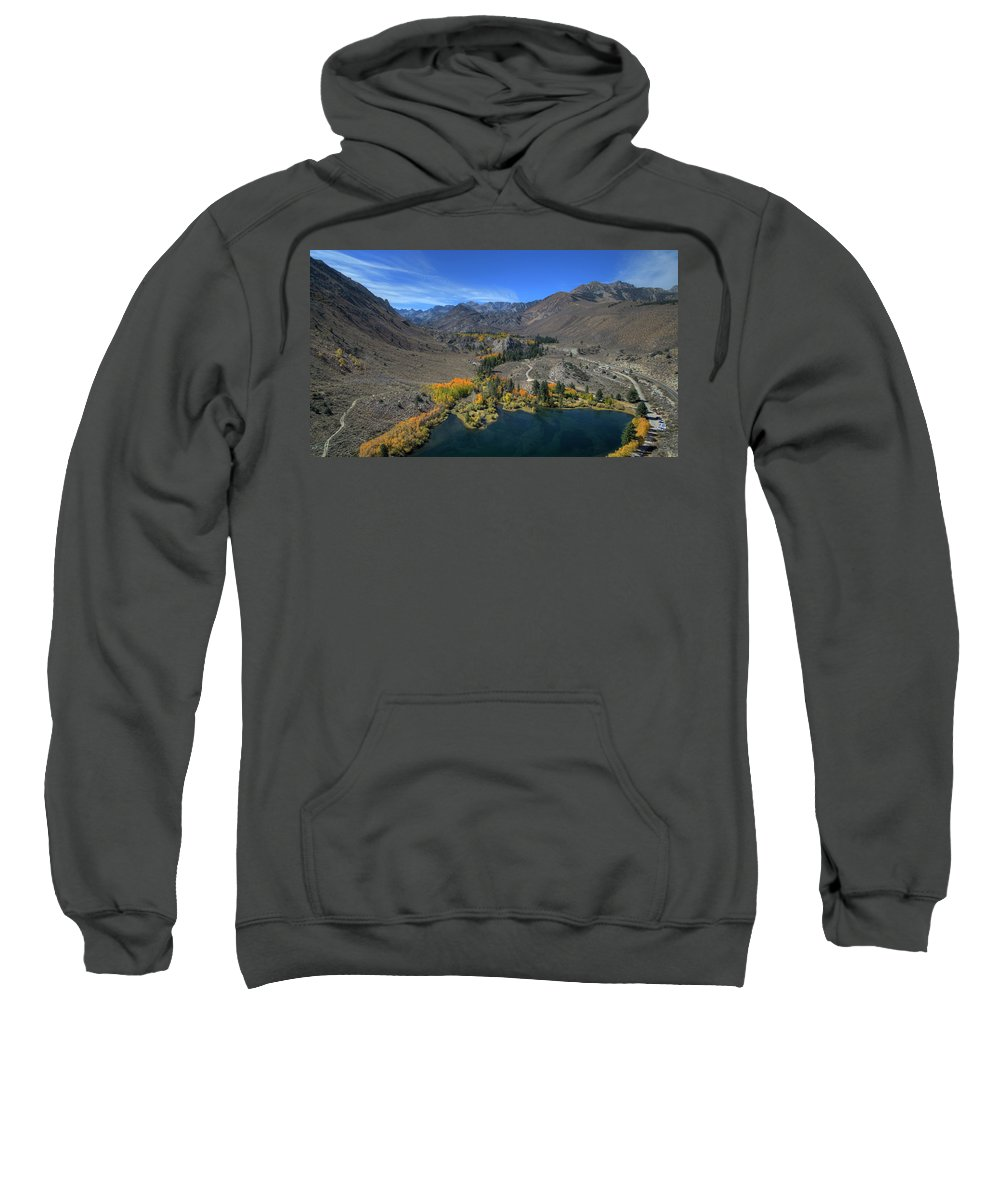 Above Sweatshirt featuring the photograph Bird's-eye View From Intake II by David Levy