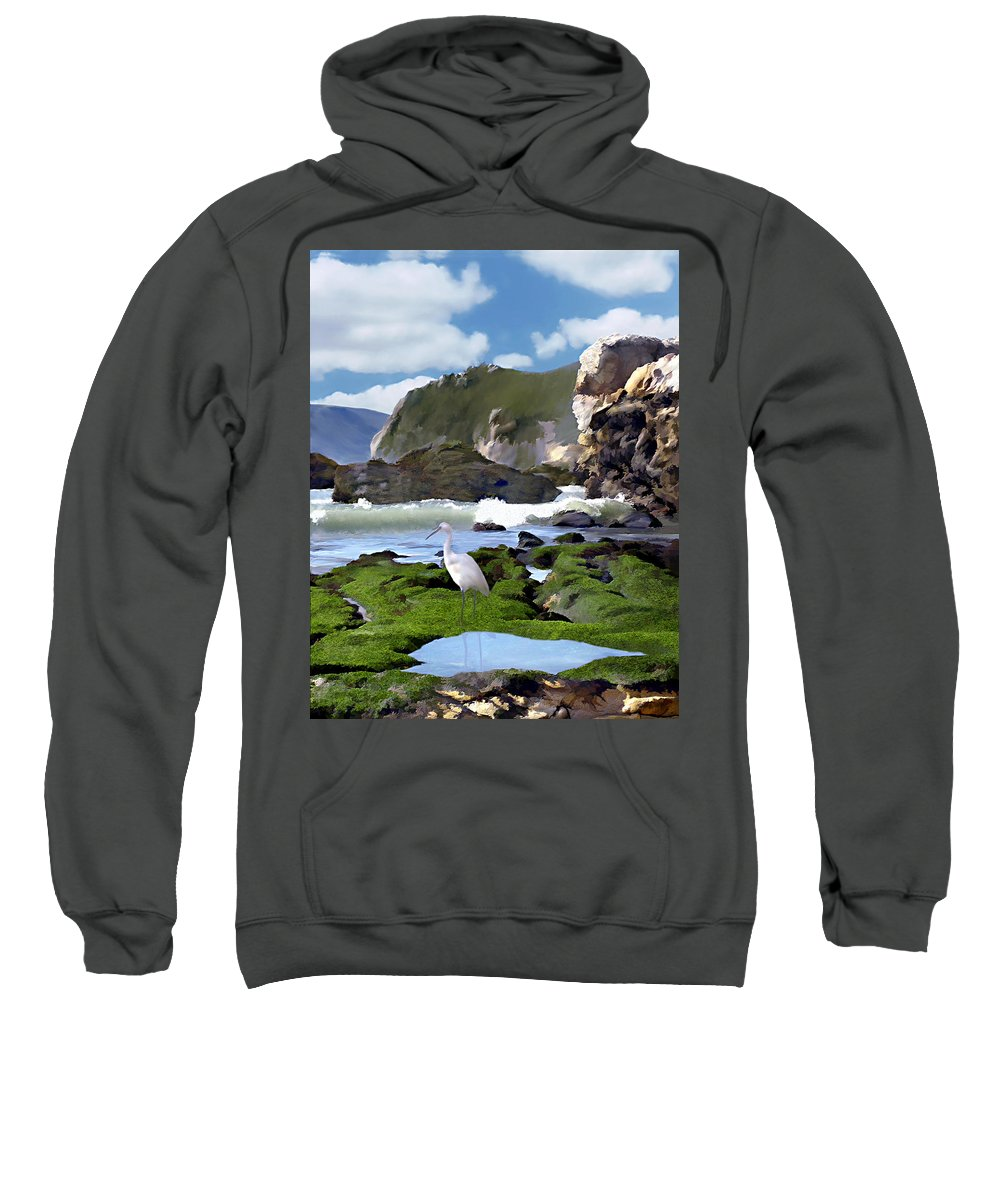 Ocean Sweatshirt featuring the photograph Bird's Eye View by Kurt Van Wagner