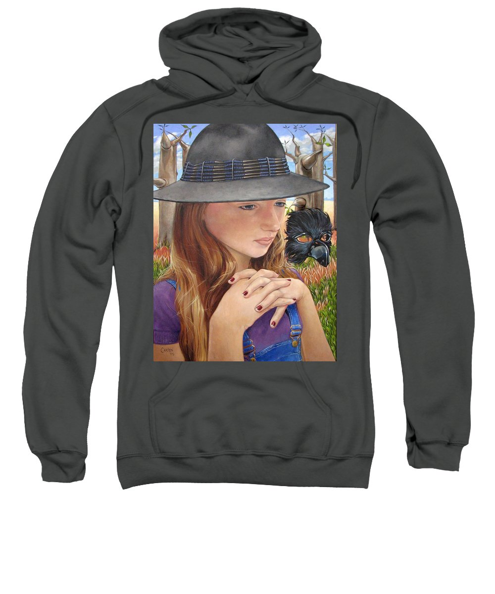 Girl Sweatshirt featuring the painting Birth Of The Scheme by Jerrold Carton