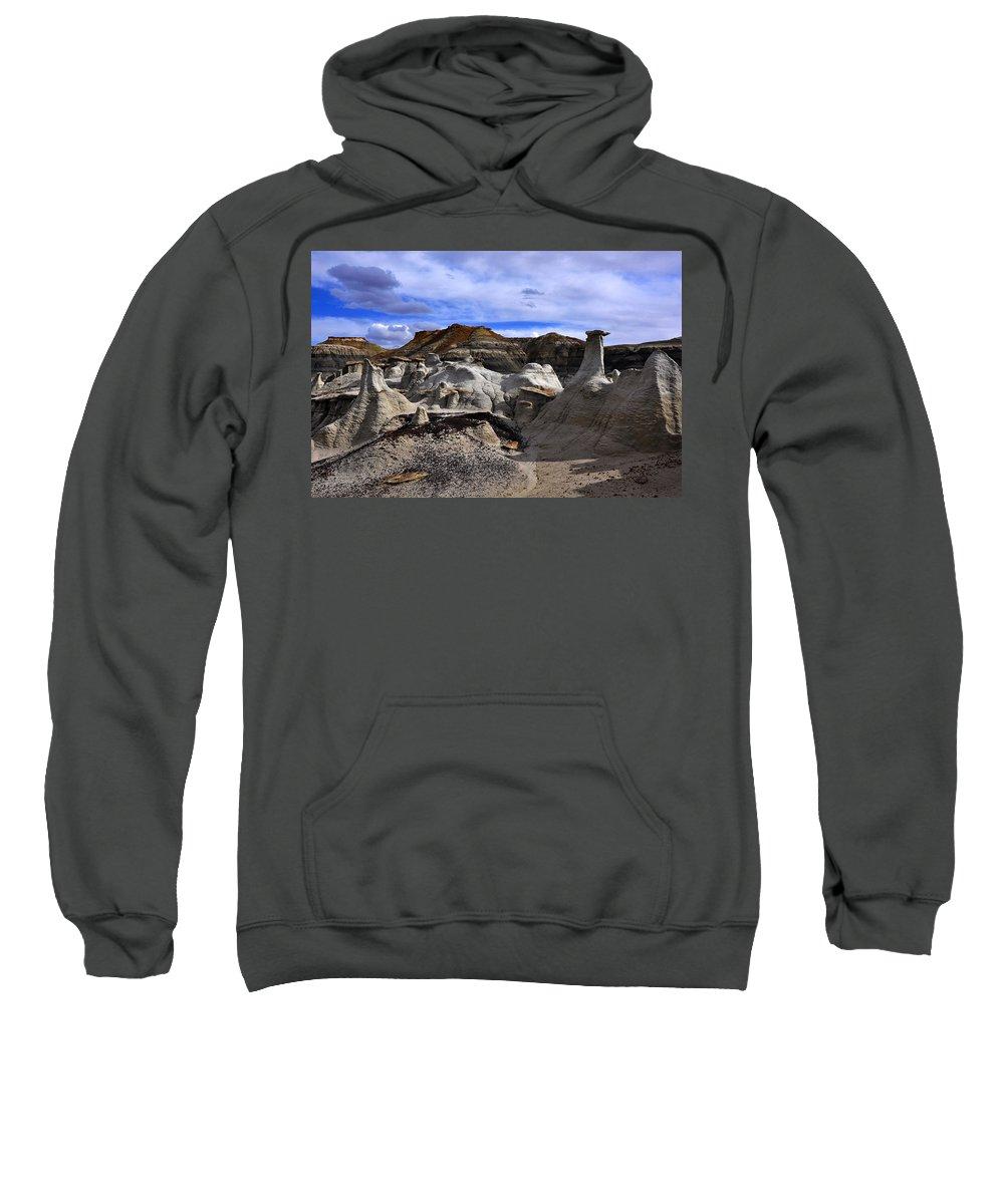 Bisti Badlands Sweatshirt featuring the photograph Bisti Badlands 1 by Ingrid Smith-Johnsen