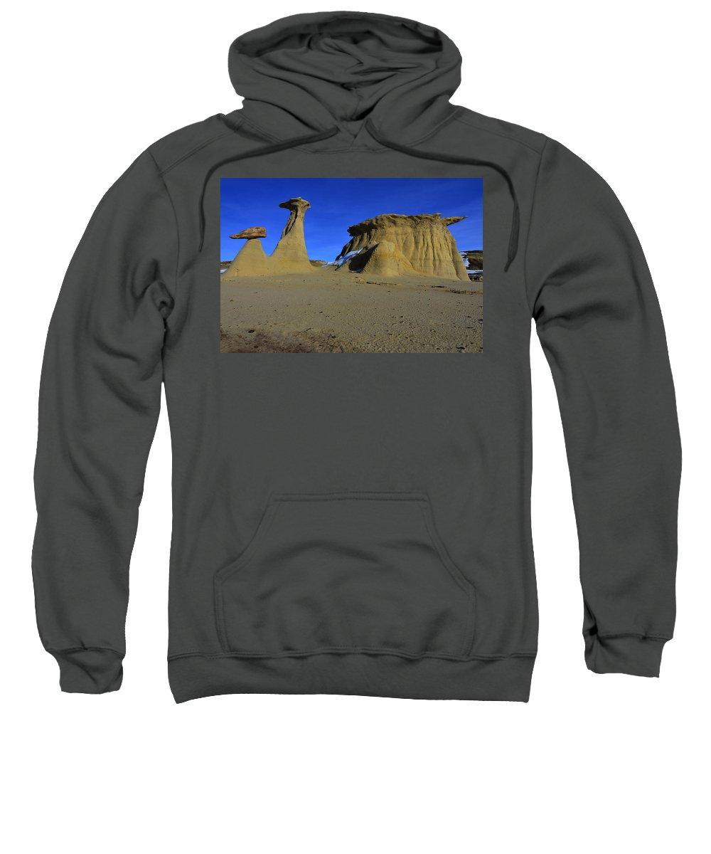 Bisti Badlands Sweatshirt featuring the photograph Bisti Badlands 2 by Ingrid Smith-Johnsen