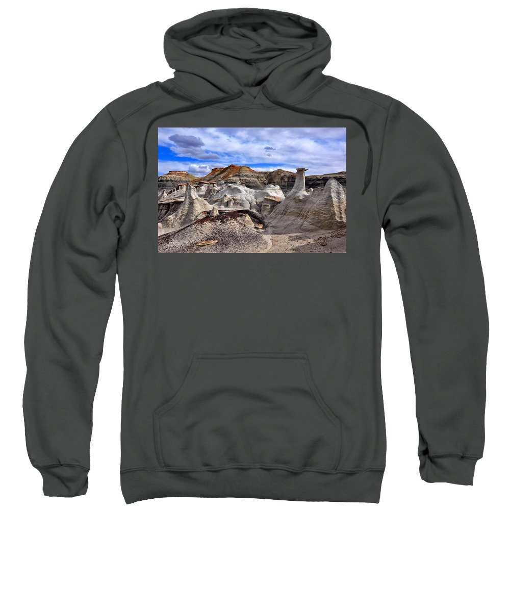 Bisti Badlands Sweatshirt featuring the photograph Bisti Badlands 7 by Ingrid Smith-Johnsen