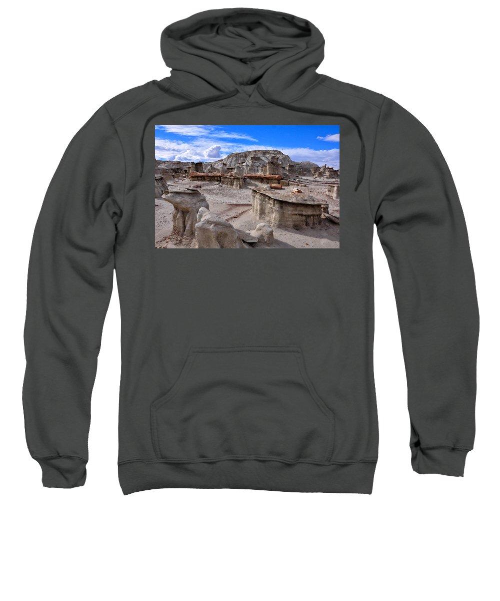 Bisti Badlands Sweatshirt featuring the photograph Bisti Badlands 8 by Ingrid Smith-Johnsen
