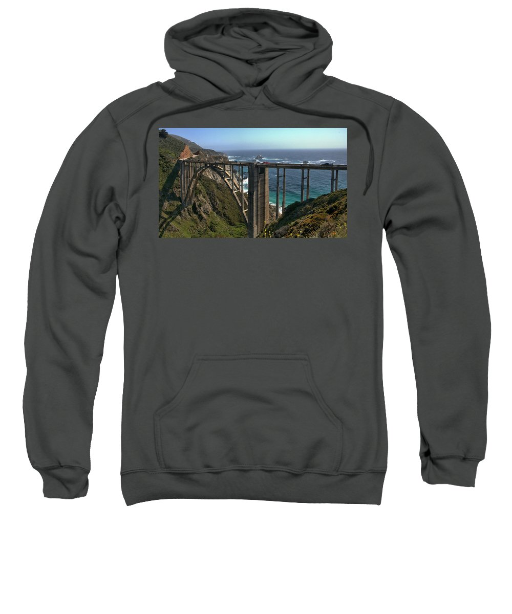 Bixby Bridge Sweatshirt featuring the photograph Bixby Creek Bridge 5 by Michael Gordon