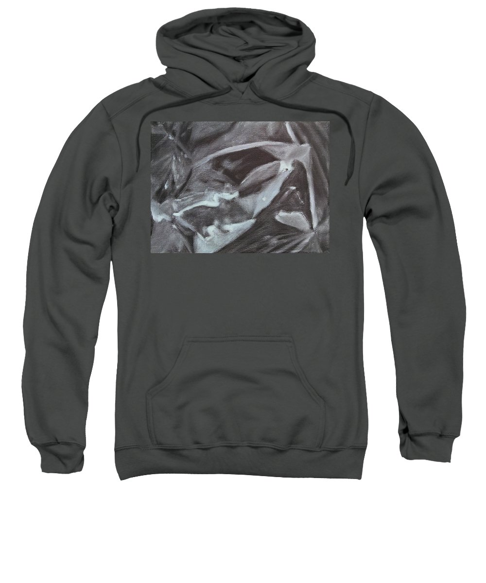 Abstract Sweatshirt featuring the painting Black Abstract by Maddie Morriss