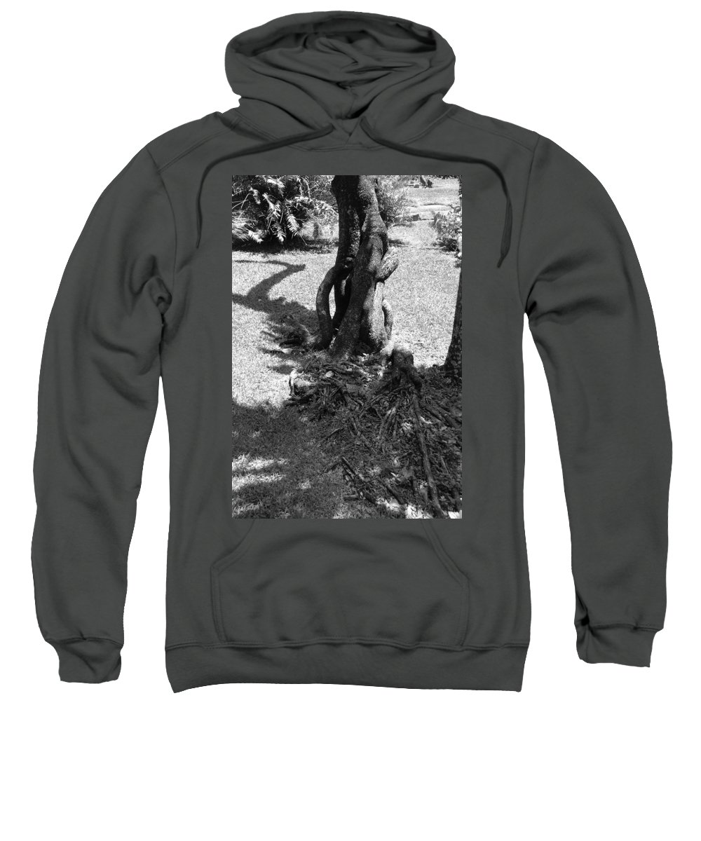Black And White Sweatshirt featuring the photograph Black And White Roots by Rob Hans