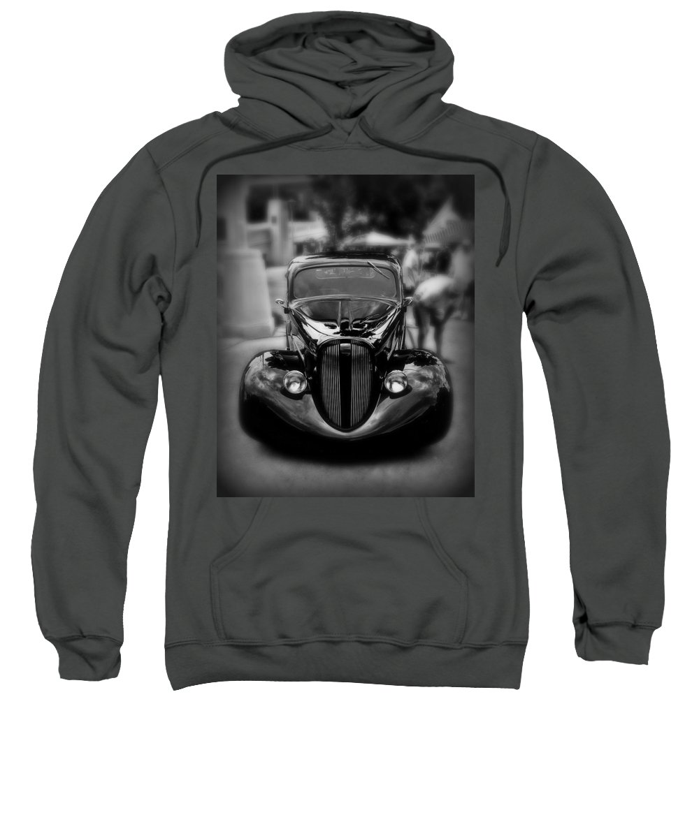 Car Sweatshirt featuring the photograph Black Classic by Perry Webster