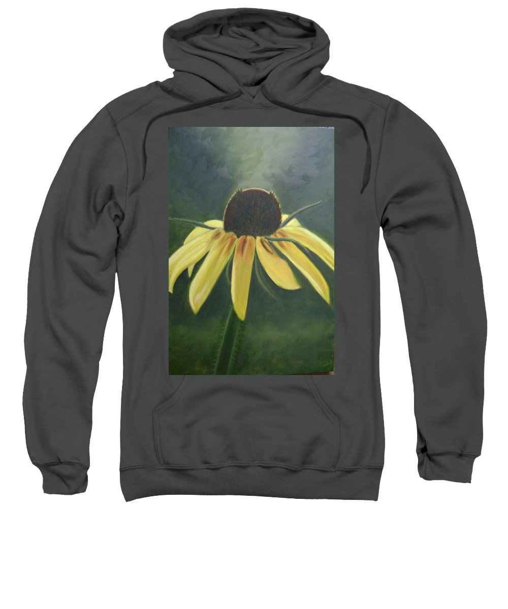 Flower Sweatshirt featuring the painting Black Eyed Susan by Toni Berry