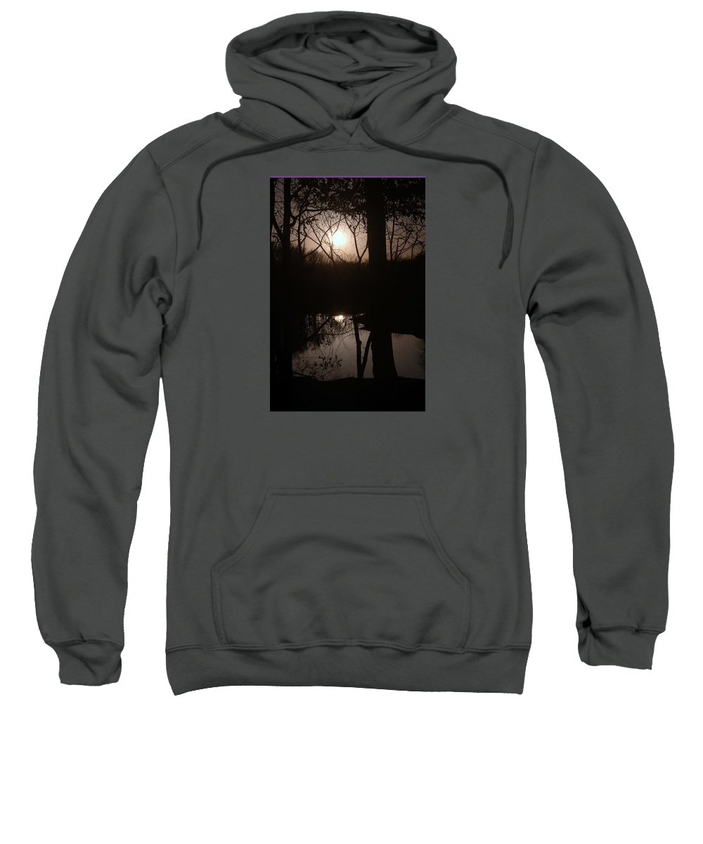 Moon Photo Sweatshirt featuring the photograph Black Ice Bright Moon by J R Seymour