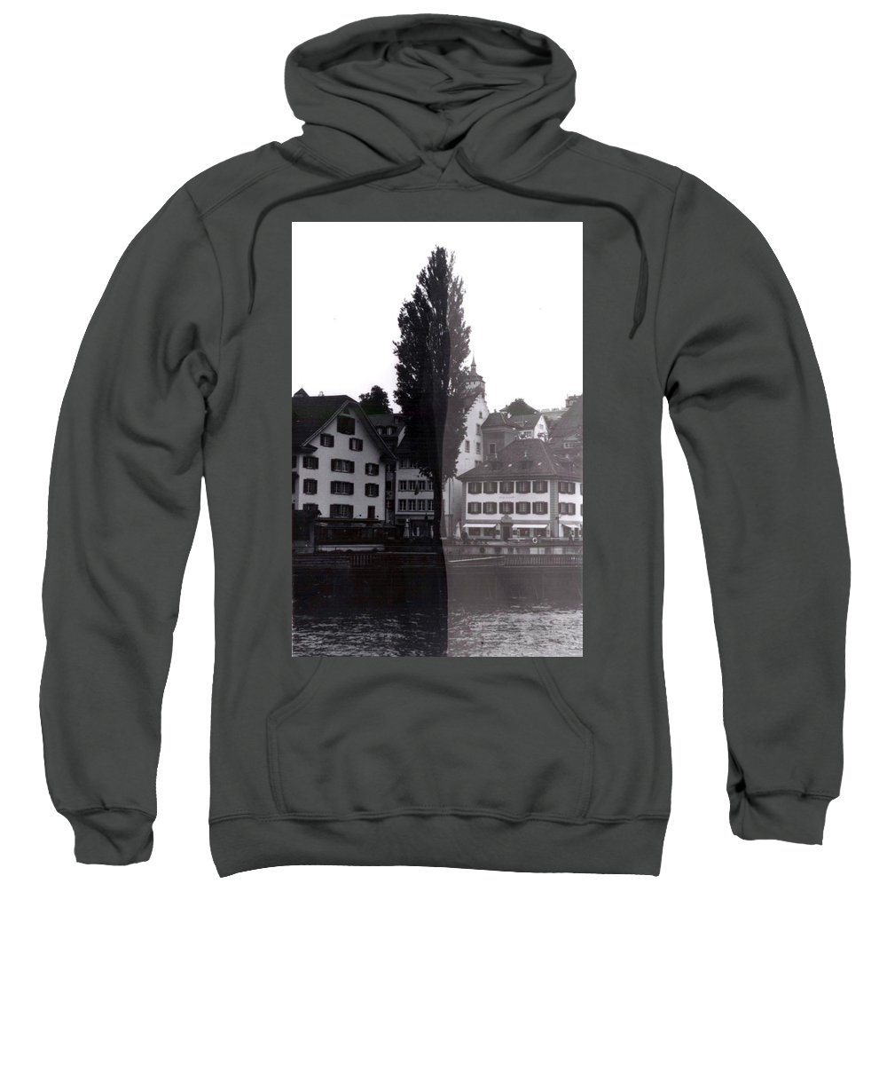 Black And White Sweatshirt featuring the photograph Black Lucerne by Christian Eberli