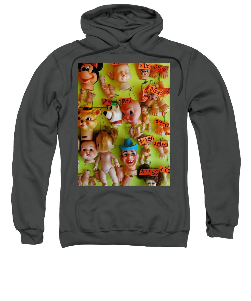 Heads Sweatshirt featuring the photograph Black Market Parts by Skip Hunt