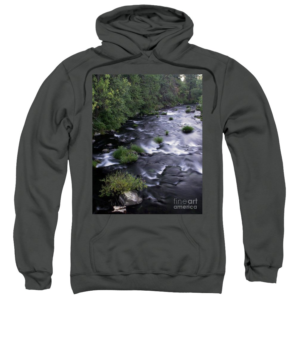 River Sweatshirt featuring the photograph Black Waters by Peter Piatt