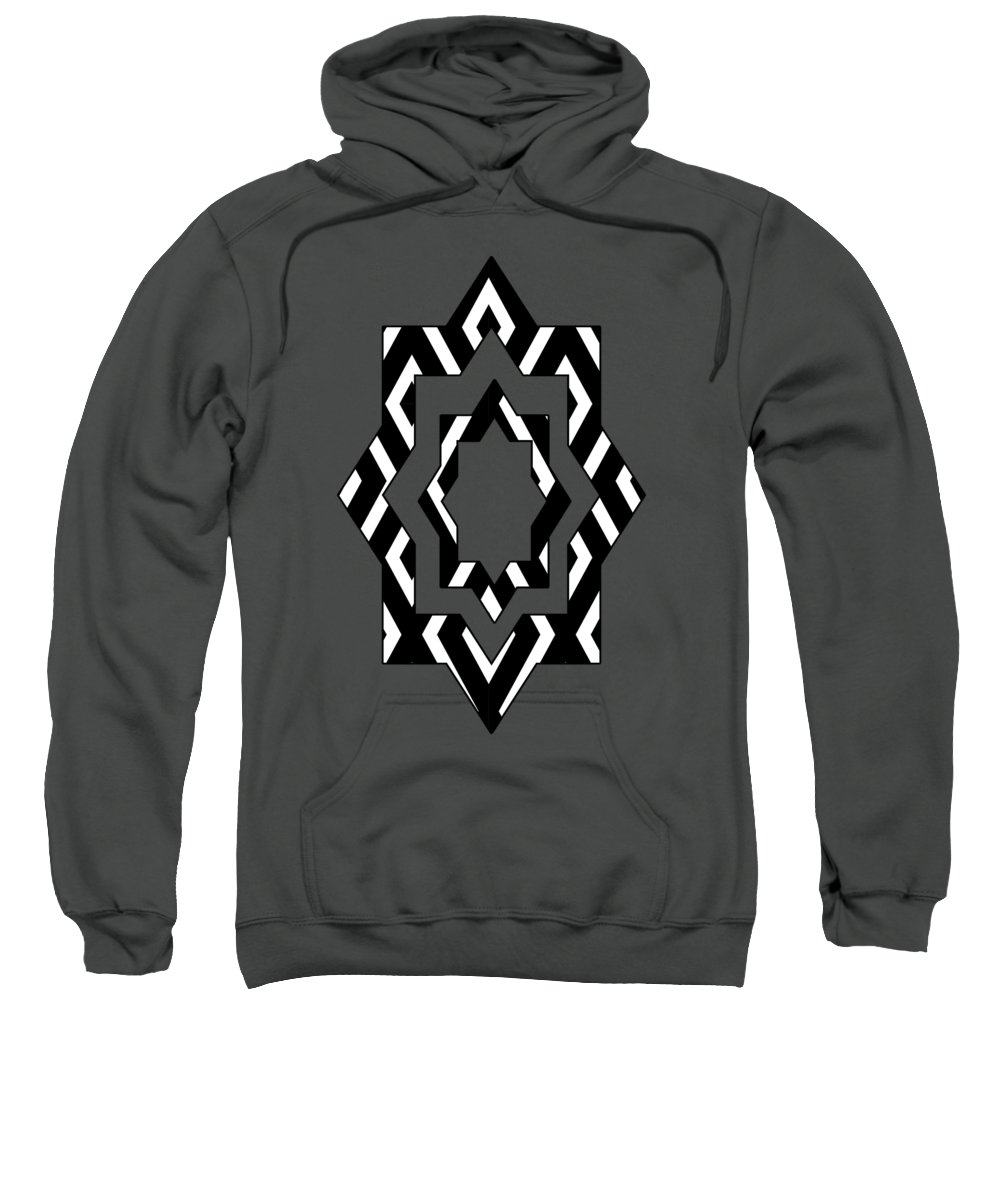 Decorative Mixed Media Hooded Sweatshirts T-Shirts