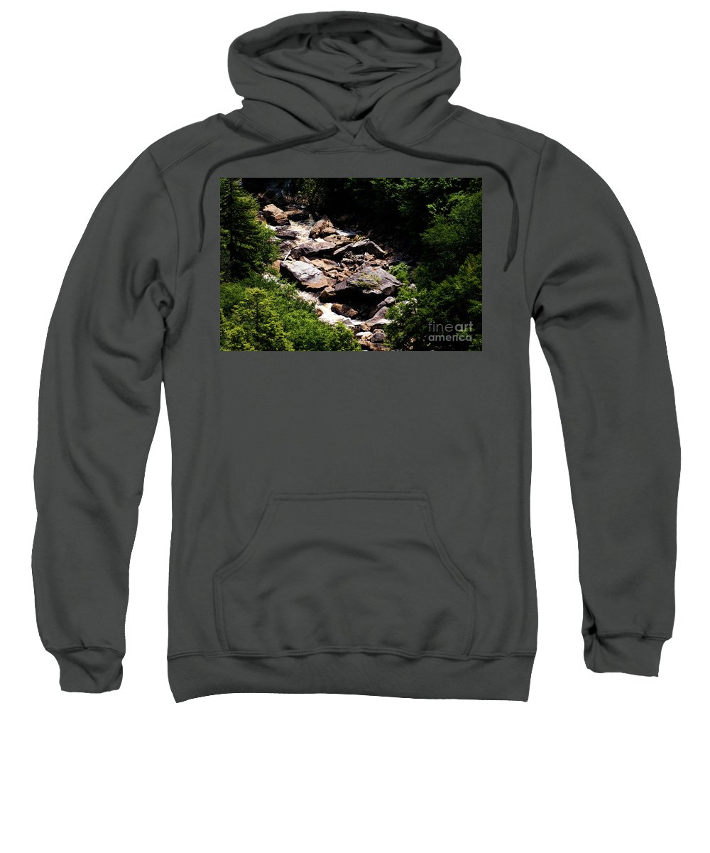 Blackwater Sweatshirt featuring the photograph Blackwater Canyon #4 by Kevin Gladwell