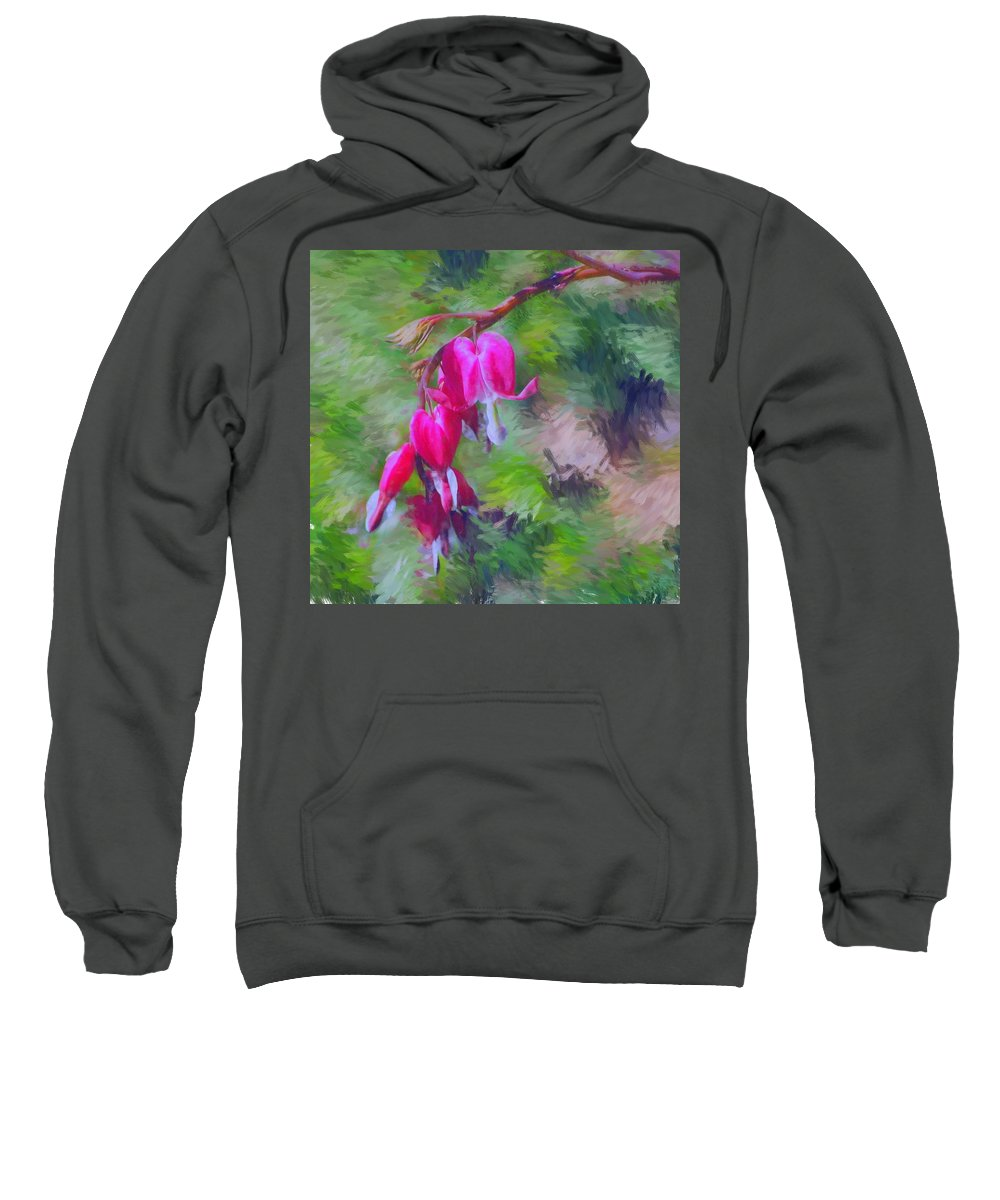 Daffodil Sweatshirt featuring the photograph Bleeding Heart by David Lane