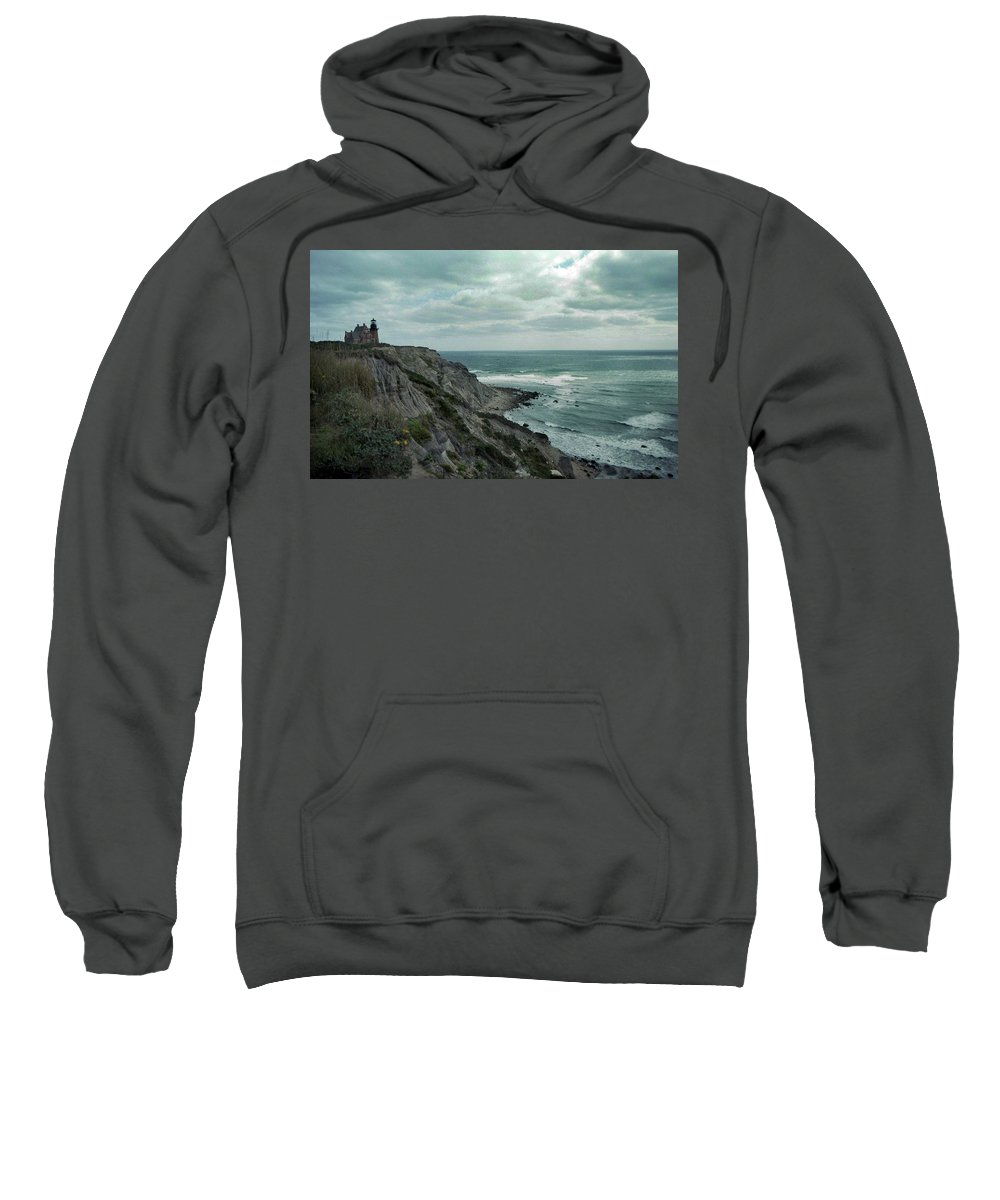 Block Island Sweatshirt featuring the photograph Block Island South East Lighthouse by Skip Willits