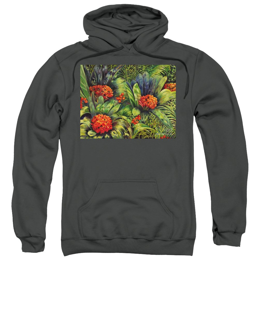 Flowers Sweatshirt featuring the painting Blooming Gorgeous by Caroline Street