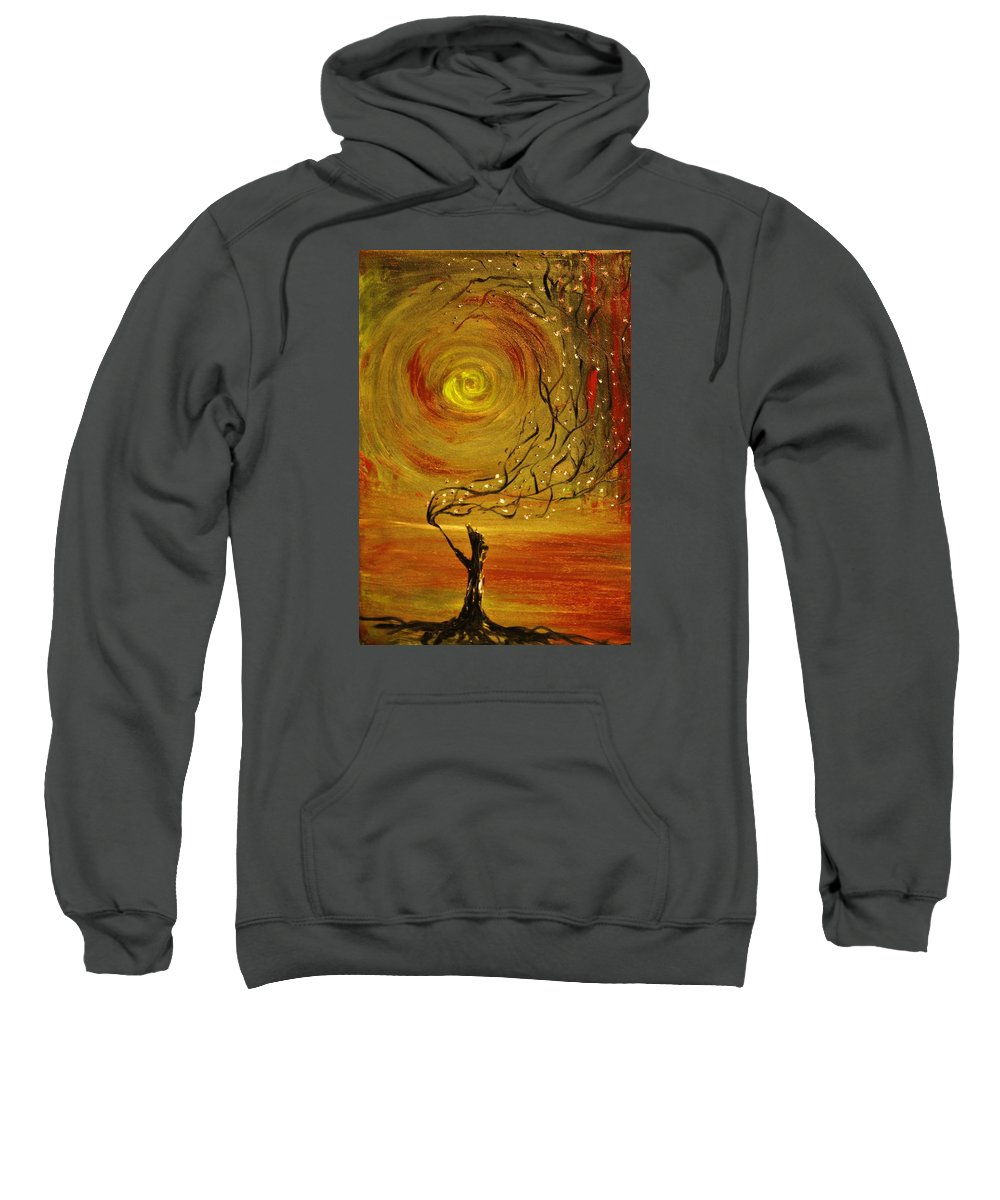 Abstract Sweatshirt featuring the painting Blossom by Evelina Popilian