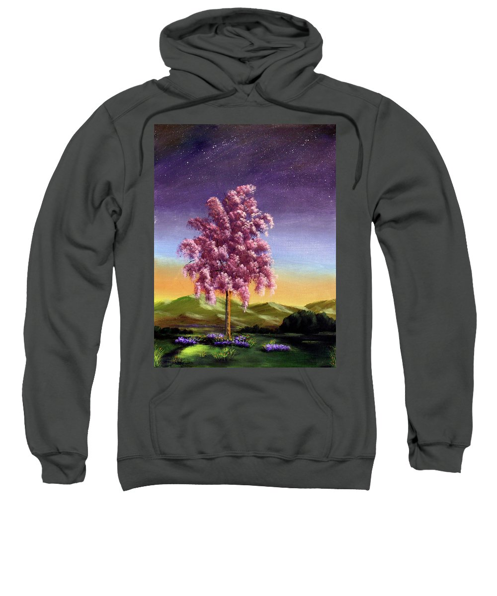 Dawn Blair Sweatshirt featuring the painting Blossoming by Dawn Blair