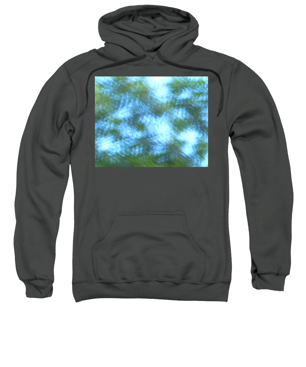 Natanson Sweatshirt featuring the mixed media Blowing In The Wind by Steven Natanson