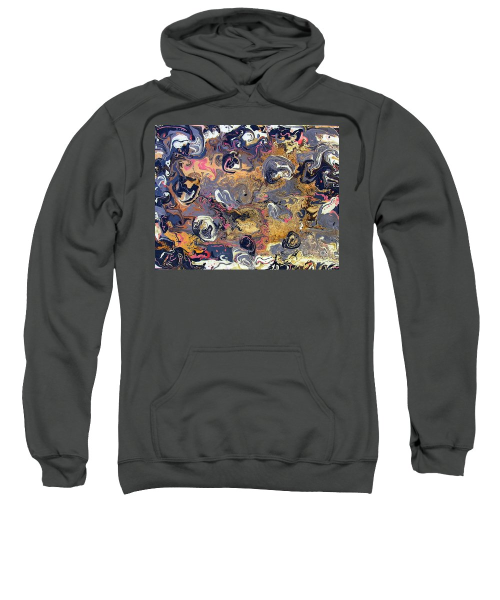 Blowing Winds Sweatshirt featuring the painting Blowing Winds by Dawn Hough Sebaugh