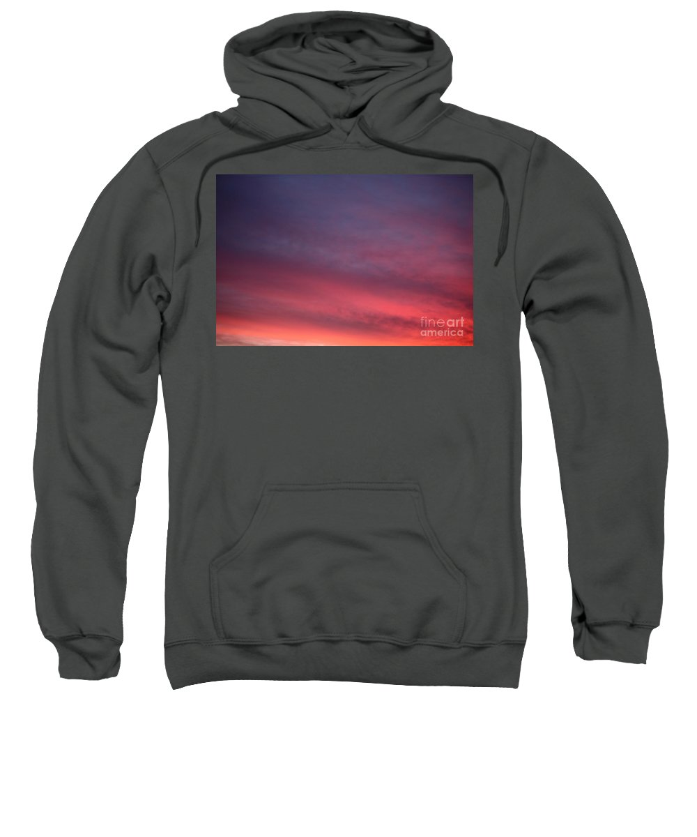 Sunset Sweatshirt featuring the photograph Blue And Orange Sunset by Nadine Rippelmeyer