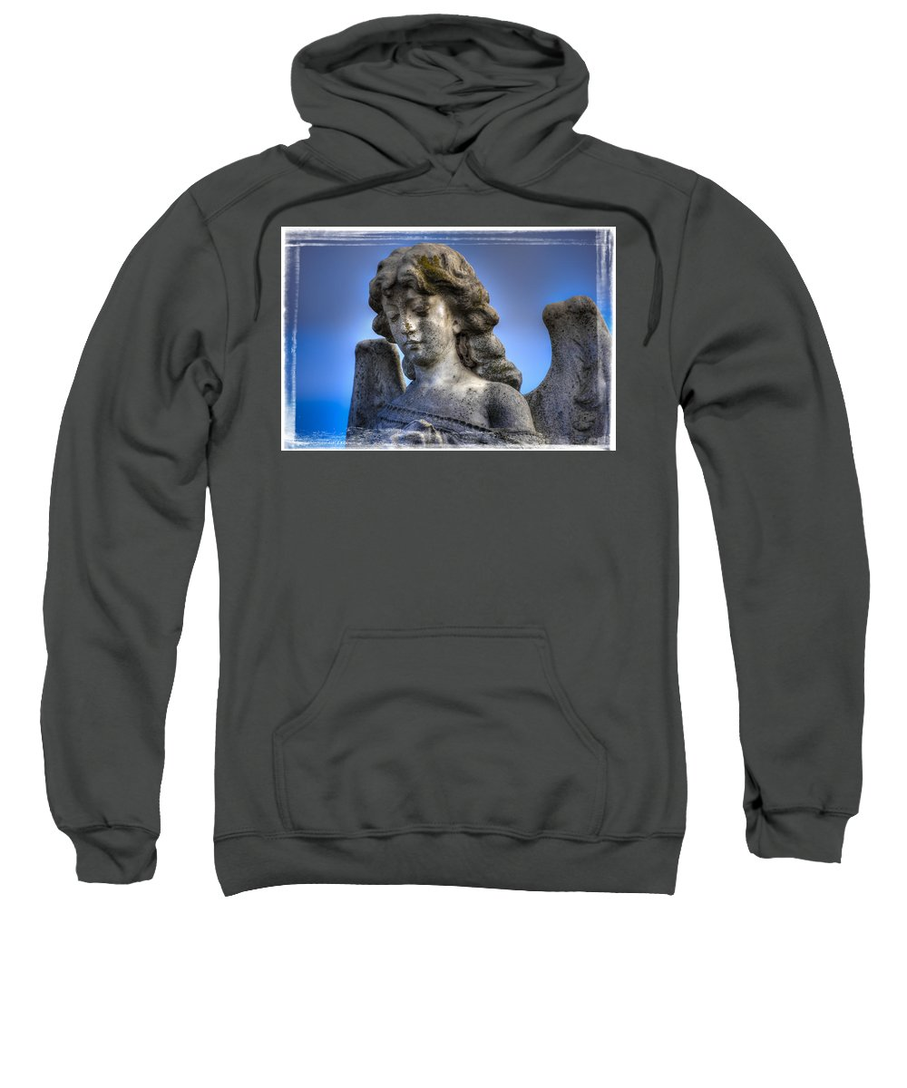 Angel Sweatshirt featuring the photograph Blue Angel by Wayne Sherriff