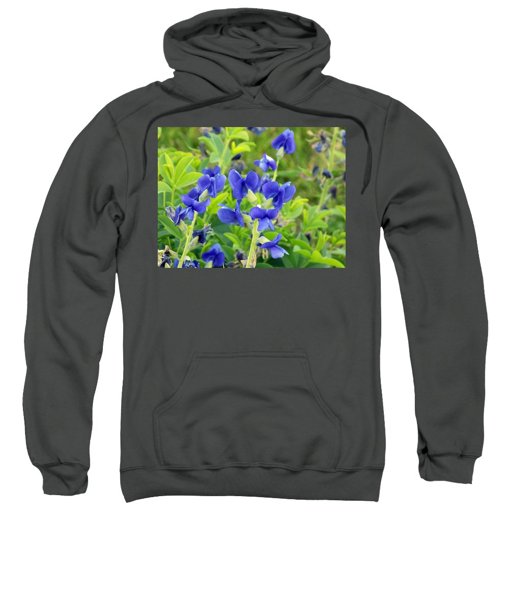 Baptisia Australis Sweatshirt featuring the photograph Blue Beauties by William Tasker
