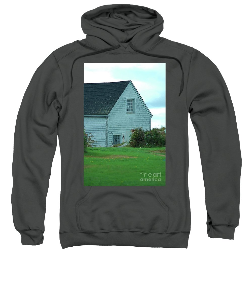 Boathouse Sweatshirt featuring the photograph Blue Boathouse by Kathleen Struckle