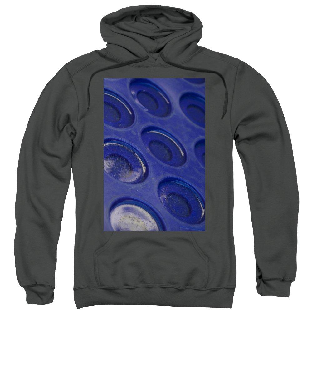 Blue Circles Sweatshirt featuring the photograph Blue Circles by Sara Stevenson