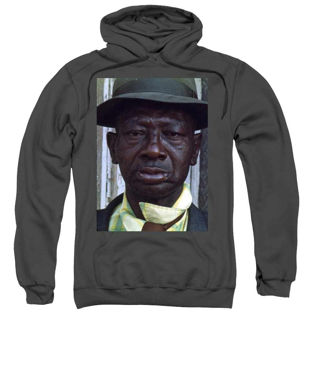 Portrait Sweatshirt featuring the photograph Blue by Lee Santa