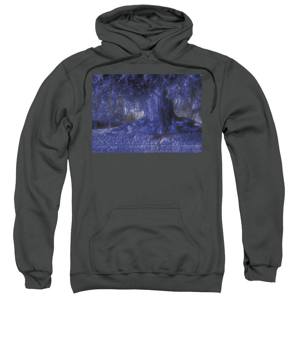 Photo Sweatshirt featuring the photograph Blue Memories by Laura Ragland