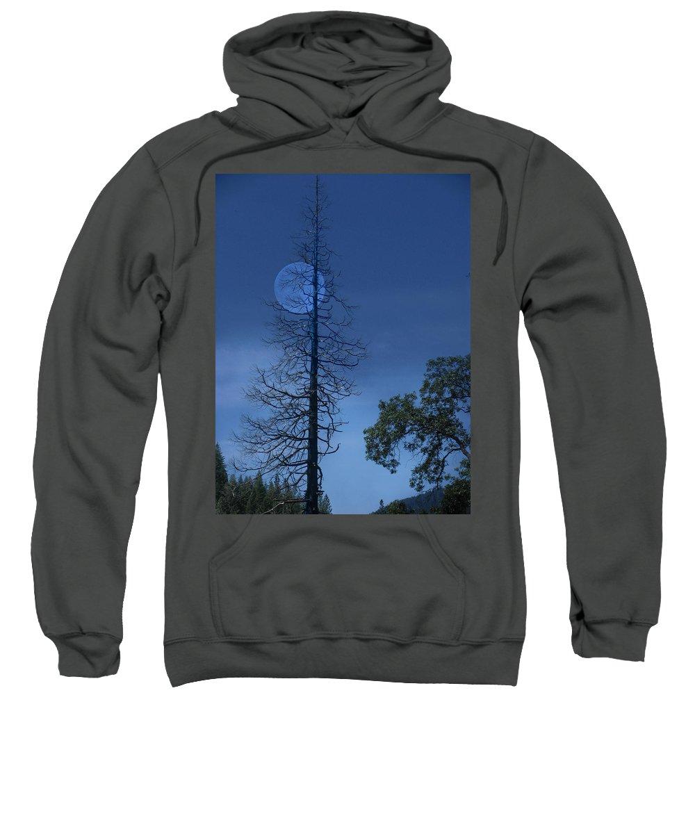 Landscape Sweatshirt featuring the photograph Blue Moon by Karen W Meyer