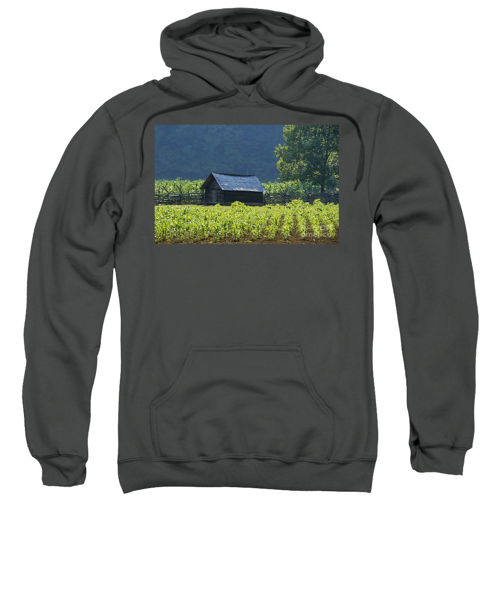 Farm Sweatshirt featuring the photograph Blue Mountain Farm by David Lee Thompson