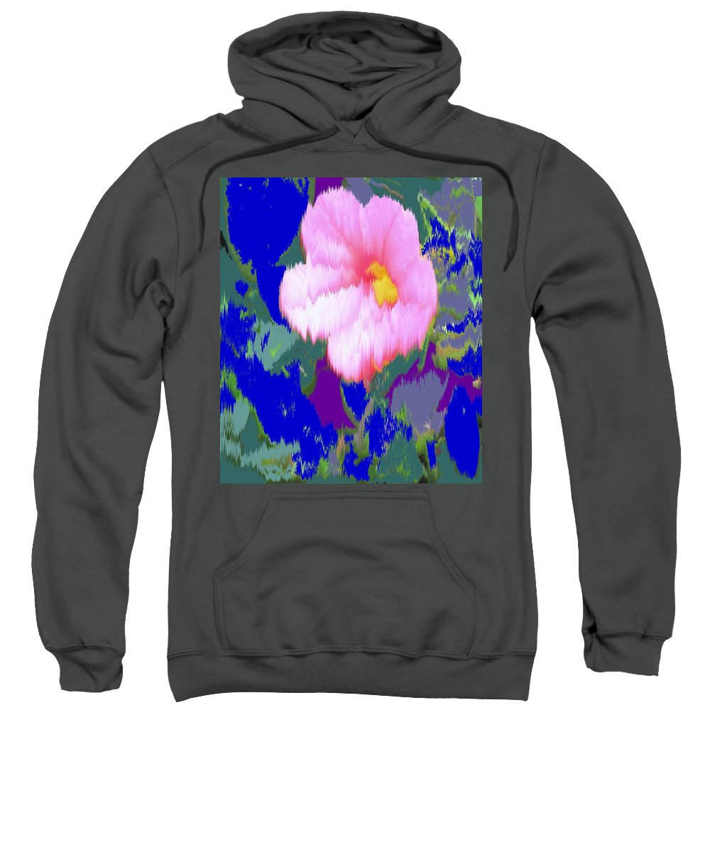 Flower Sweatshirt featuring the photograph Blue Pink by Ian MacDonald