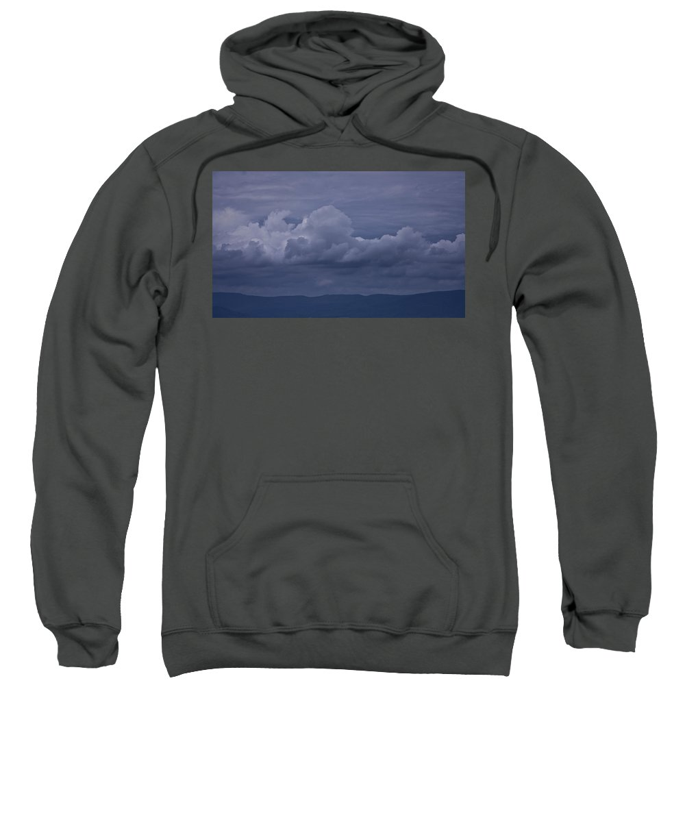 Storm Sweatshirt featuring the photograph Blue Ridge Mountain Storm In Virginia by Teresa Mucha