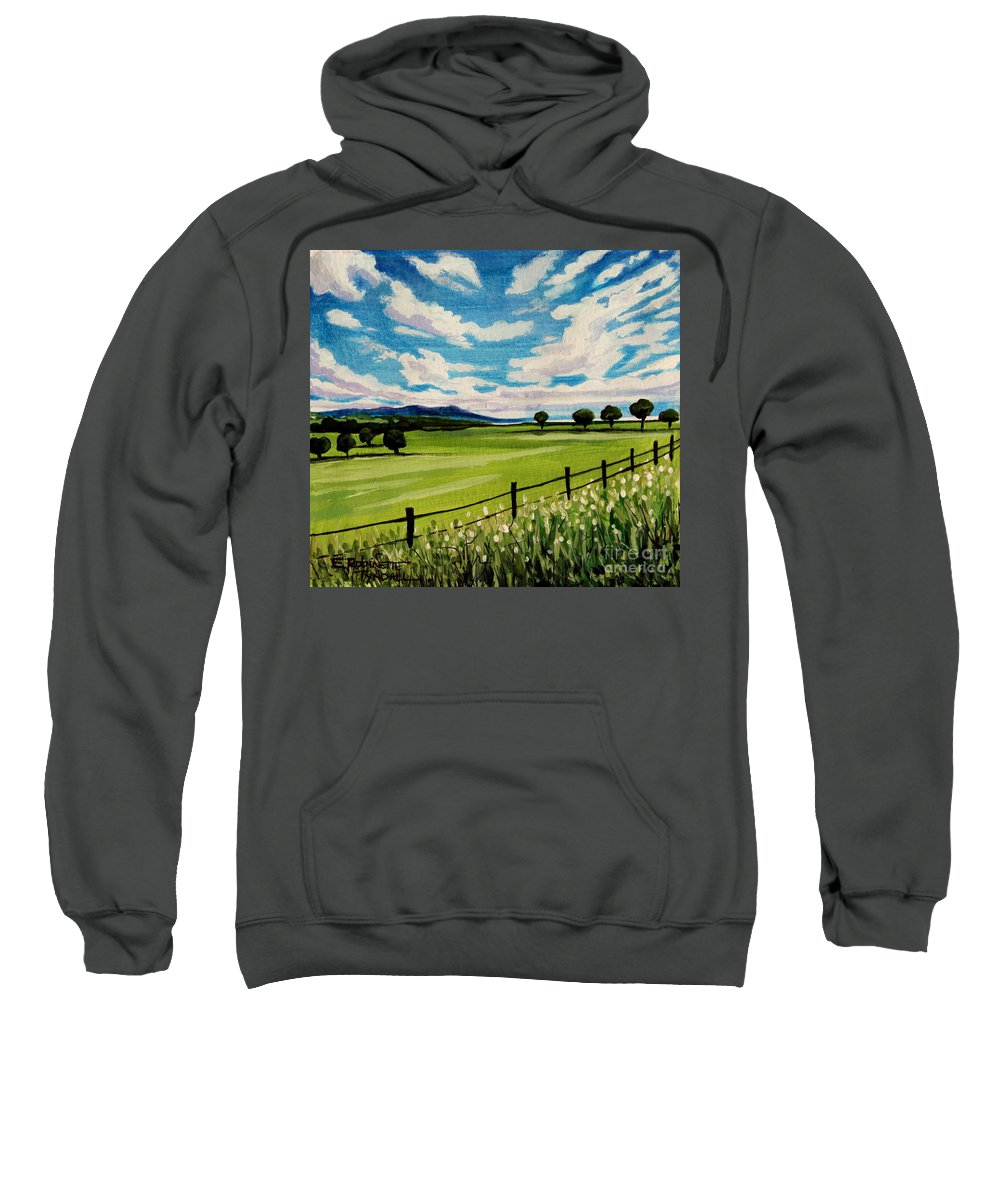 Landscape Sweatshirt featuring the painting Blue Skies by Elizabeth Robinette Tyndall