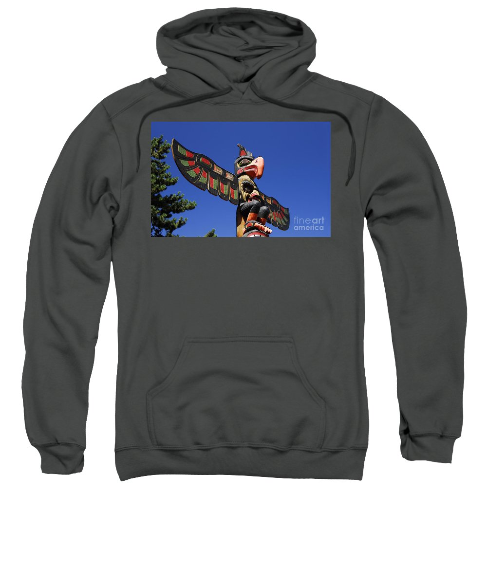 Totem Pole Sweatshirt featuring the photograph Blue Sky Totem by David Lee Thompson