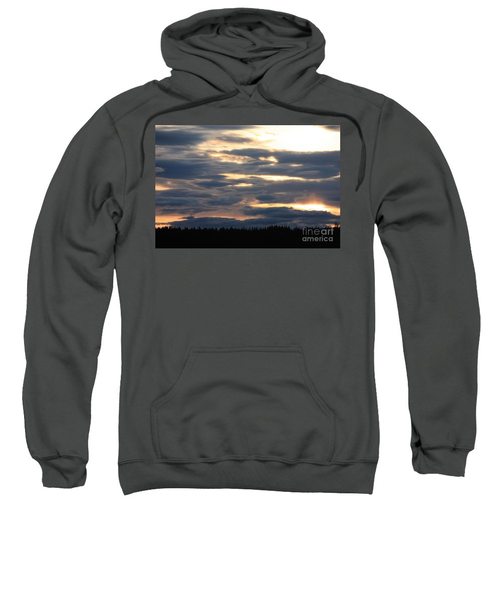 Clouds Sweatshirt featuring the photograph Blue Sunset by Carol Groenen