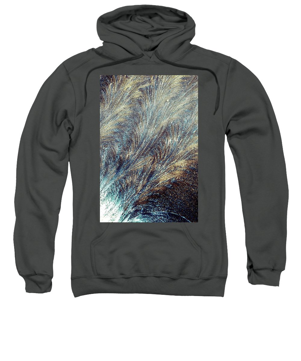 Hoarfrost Sweatshirt featuring the photograph Blue Supernova - Hoarfrost by Kim Bemis