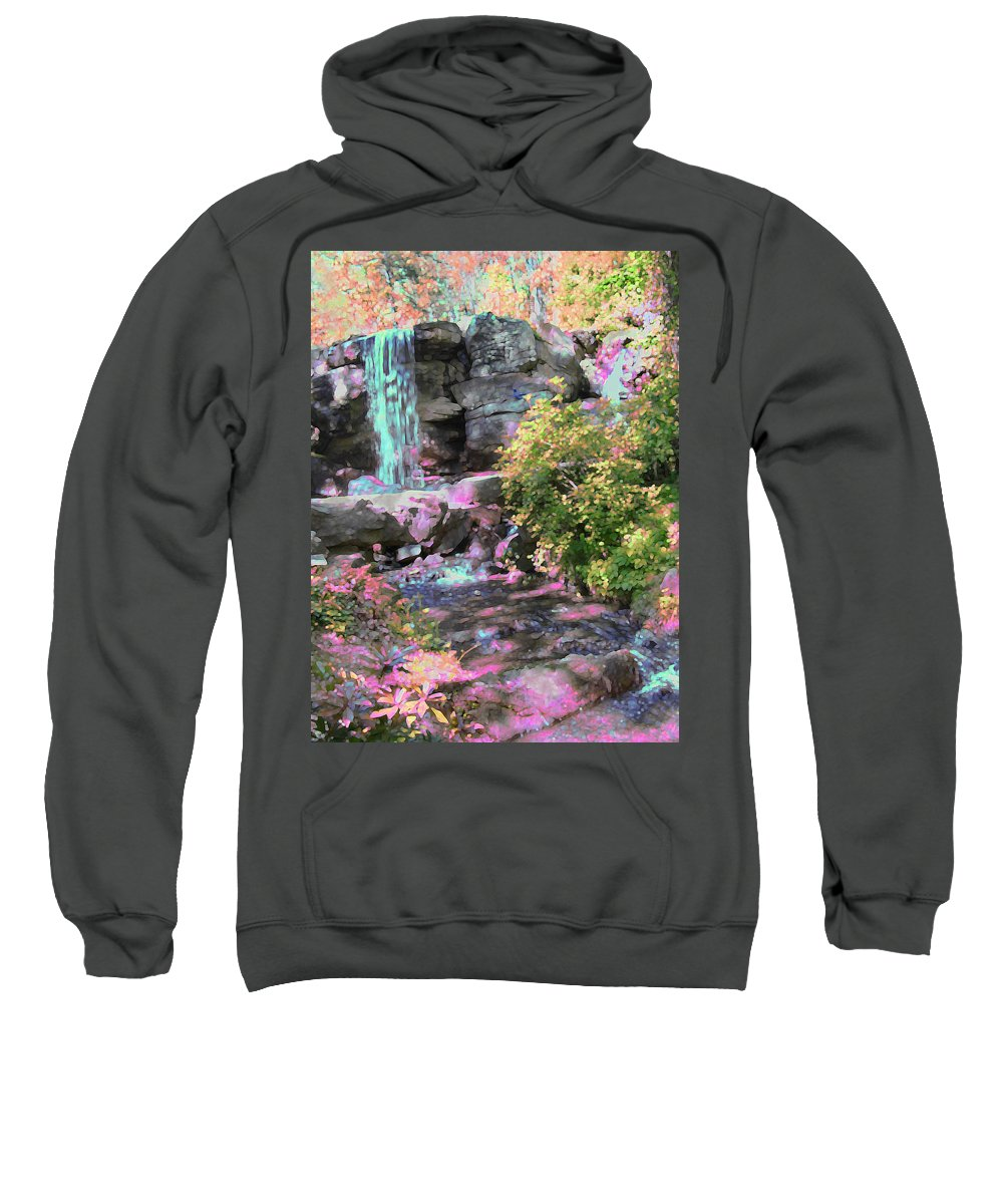 Waterfall Sweatshirt featuring the photograph Blue Waterfall by Anne Cameron Cutri
