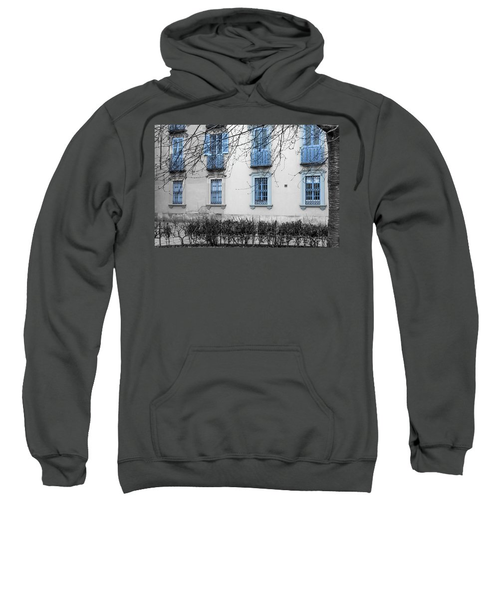 Italy Sweatshirt featuring the photograph Blue Windows And Balconies by Wolfgang Stocker
