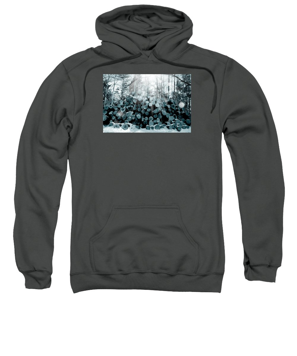 Forest Sweatshirt featuring the photograph Blue Wood by Mark Ashkenazi