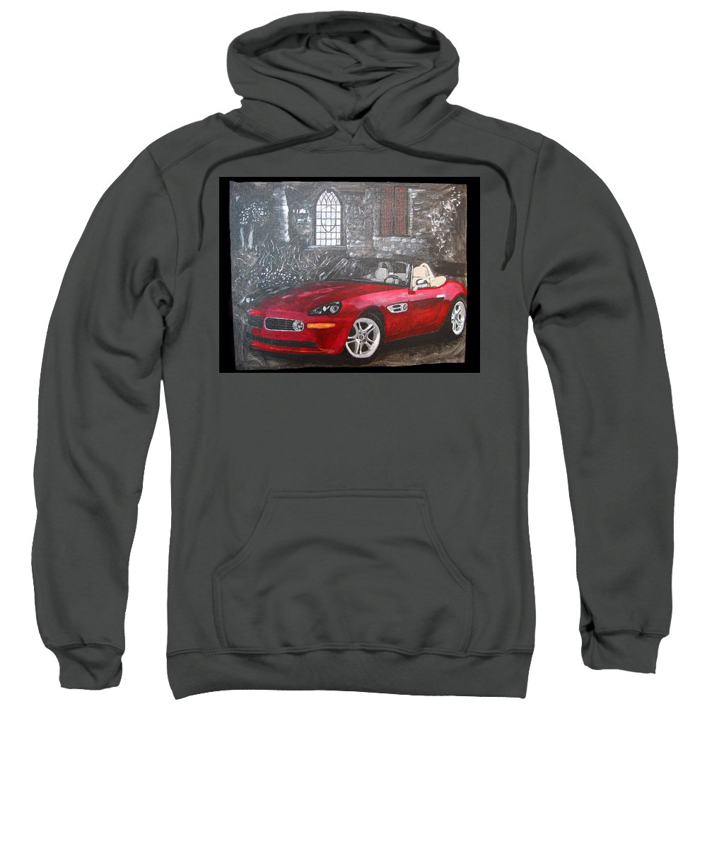 Bmw. Z8 Sweatshirt featuring the painting Bmw Z8 by Richard Le Page