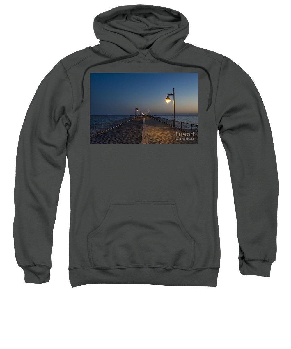 Boardwalk Sweatshirt featuring the photograph Boardwalk Night. by John Greim