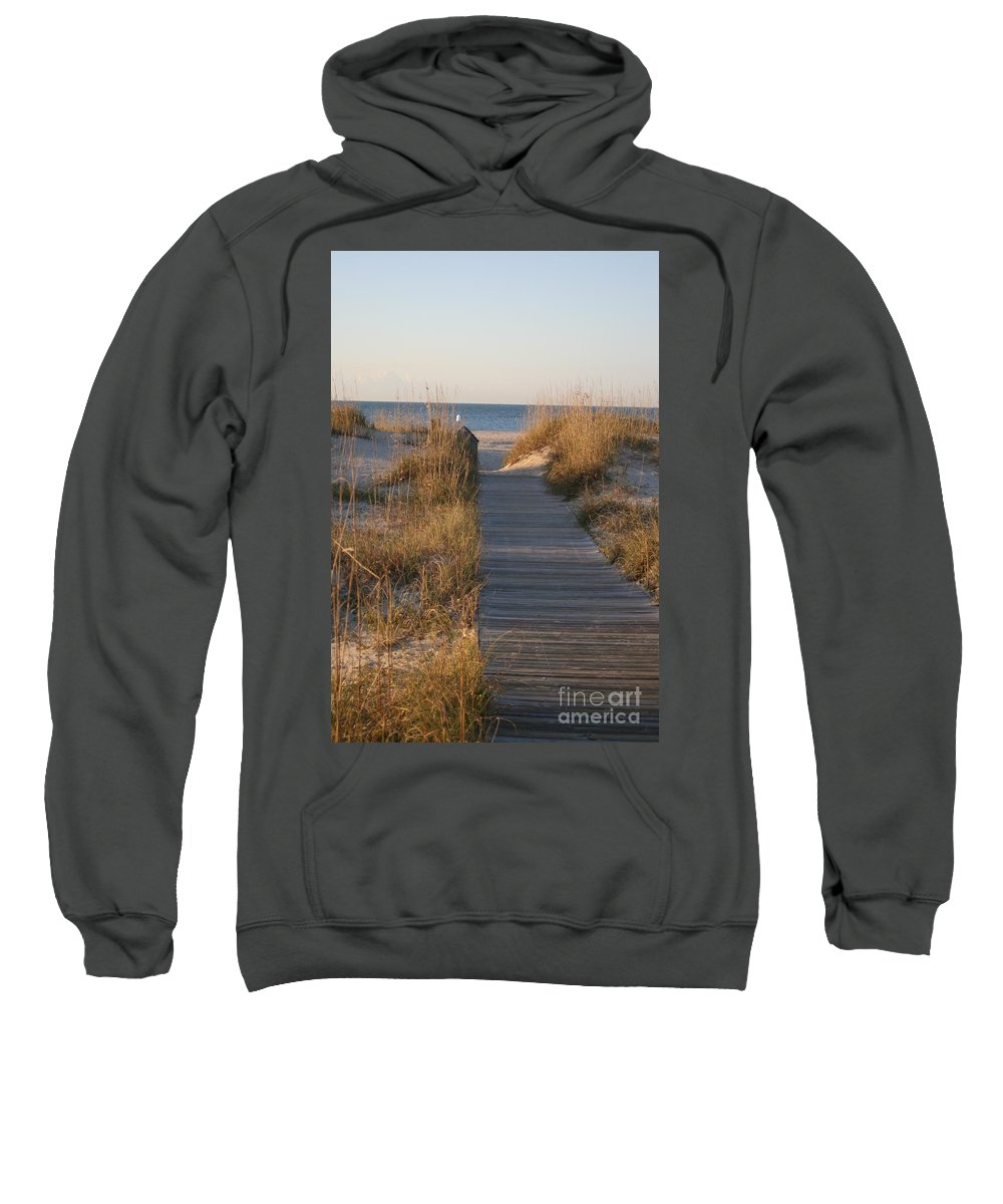 Boardwalk Sweatshirt featuring the photograph Boardwalk To The Beach by Nadine Rippelmeyer