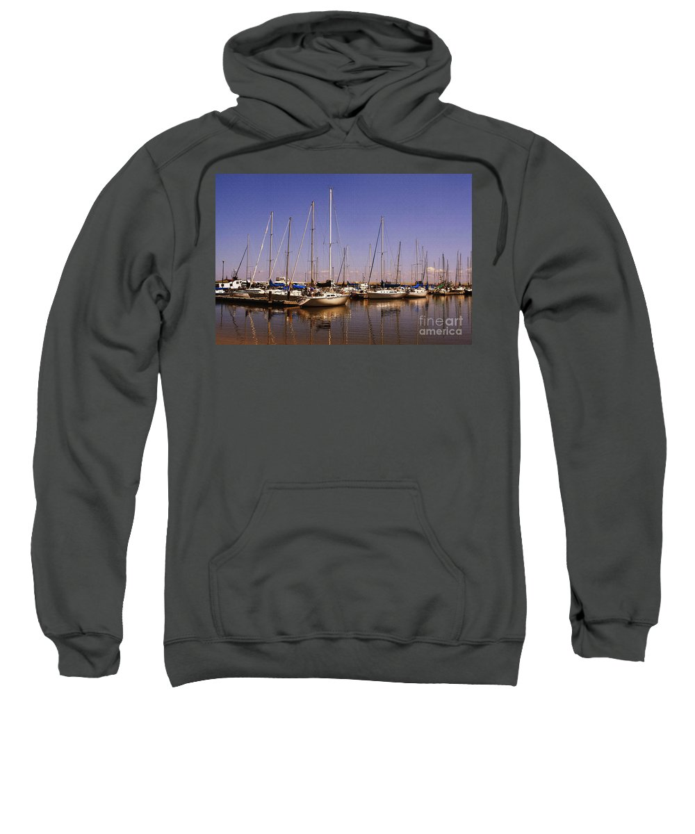 Boats Sweatshirt featuring the photograph Boats And Reflections by Teresa Zieba