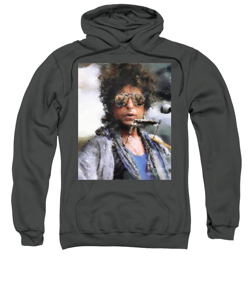 Dillon Sweatshirt featuring the photograph Bob Dillon by Henry J Yasses