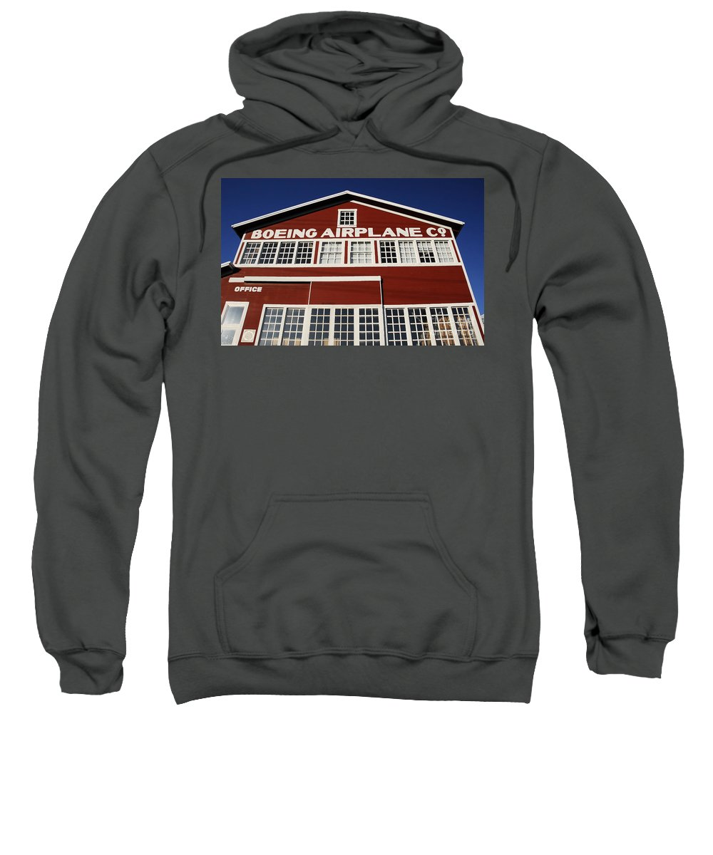 Boeing Sweatshirt featuring the photograph Boeing Airplane Hanger Number One by David Lee Thompson